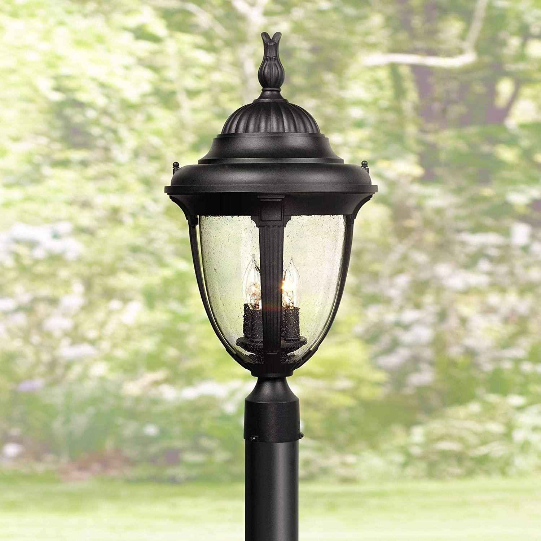 Max 61% OFF Casa New sales Sierra Traditional Outdoor Post Fixture Light Aluminu Black