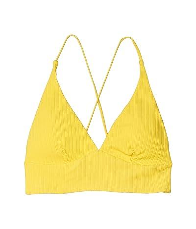 Luli Fama Playa Vibes Cross-Back Bustier Top (Yellow) Women