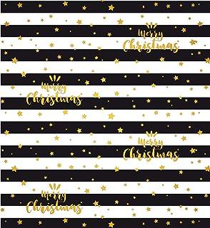 """bsb - Carta da regalo natalizia""""Merry Christmas"""", colore nero e oro"""