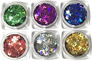 Holographic Nail Sequin,Sparkly Butterflies Paillette Flakes Bow for Nail Art Decoration,DIY Crafts
