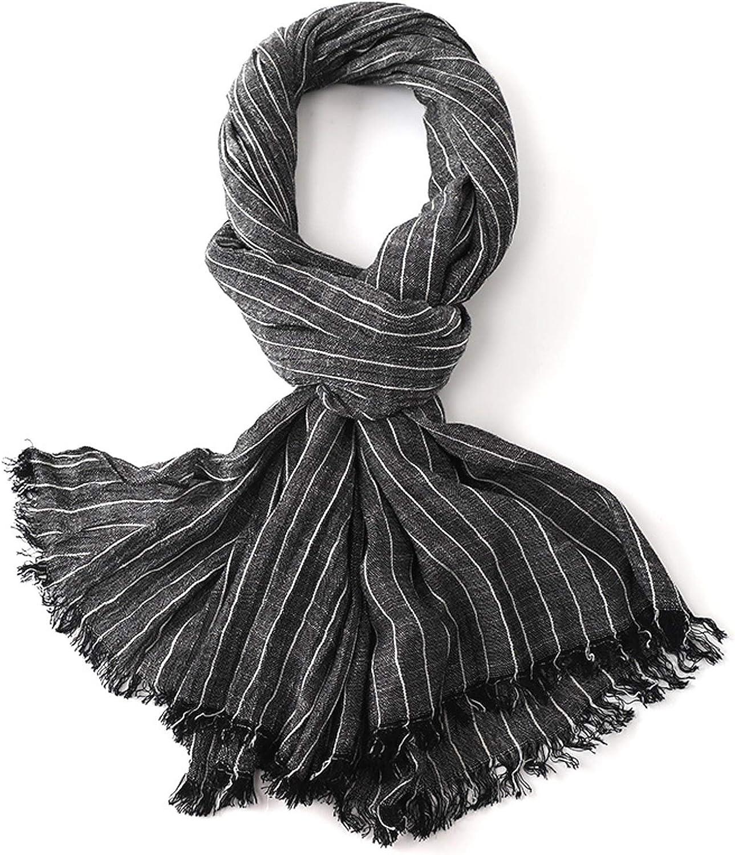 KGDC Seattle Mall Scarves Max 63% OFF Shawls Fashion Striped Men's Thin Casual Scarf Scar