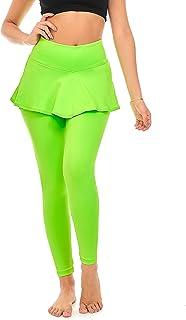DEAR SPARKLE Skirted Leggings Women   Yoga Tennis Golf Pants Skirt Pockets + Plus Size (S9)