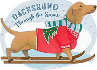 Molly & Rex Dachshund Dog Dimensional Holiday Boxed Cards - Set of 12