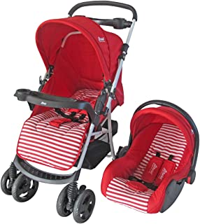 D'bebé Carriola Travel System Stripes color Rojo