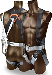 KSEIBI 421020 Safety Harness Fall Protection Kit, Construction Full Body System, with 6