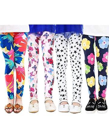 2-13 anni XM-Amigo Confezione da 4 leggings elasticizzati con motivo floreale