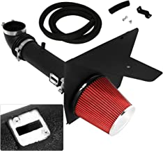 For Chevy Chevrolet Camaro V6 3.6L High Flow Induction Air Intake System + Heat Shield Black Piping Kit