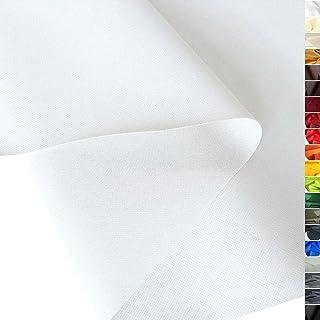 TOLKO wasserfest beschichteter Nylon Stoff | fester Segeltuch Planenstoff als Nylonplane für Aussenbereich | Reißfest und Langlebig | Meterware 150cm breit schwerer Outdoorstoff Weiß
