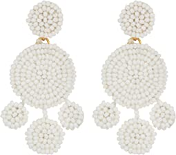 Beaded Disc Chandelier Earrings