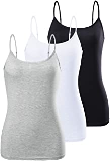 AMVELOP Adjustable Camisole for Women Spaghetti Strap Tank Top Camisoles