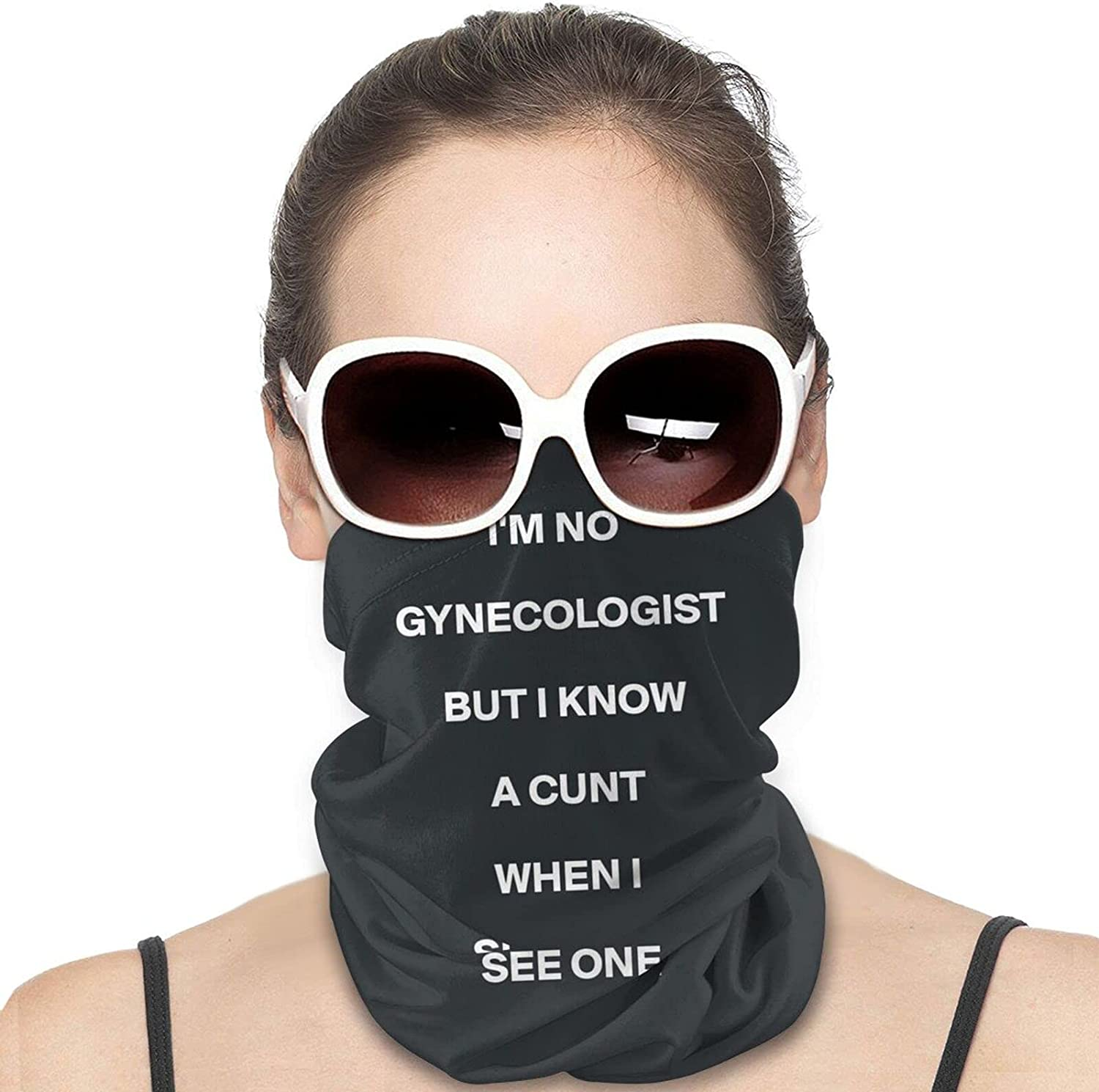 I'M Not A Gynecologist Round Neck Gaiter Bandnas Face Cover Uv Protection Prevent bask in Ice Scarf Headbands Perfect for Motorcycle Cycling Running Festival Raves Outdoors