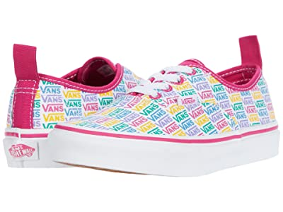 Vans Kids Authentic Elastic Lace (Big Kid) ((Rainbow Vans) Cabaret/True White) Girls Shoes