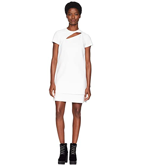 Abito Donna Tessuto Short Sleeve Dress, White