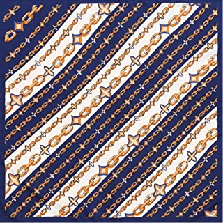 Happy-L New Elegant Twill Scarves 70cm Printing Retro Square Scarf Ladies Professional Decoration Small Scarf (Color : 03)