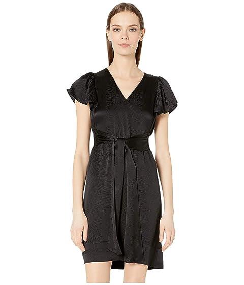 Rebecca Taylor Sleeveless Silk V-Neck Dress