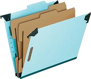 "Pendaflex Hanging Classification Folders, Legal Size, 6 Section, 2"" Expansion, Blue, 1/3 Cut, 10/BX (59352EE)"