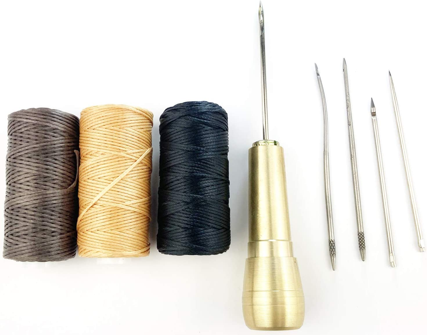 Limited price sale Selling Becho 5 Needles Hand Stitcher Sets Sewing Handle Awl Copper with