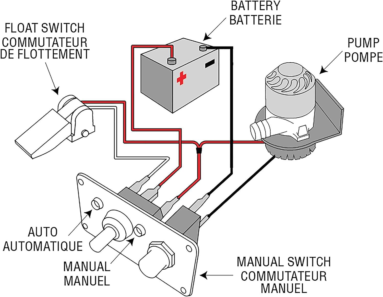 amazon.com : 10 amp breaker on off auto bilge pump : boating bilge pumps :  sports & outdoors  amazon.com