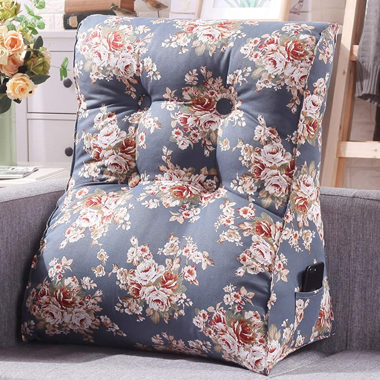 YHEGV Coussin d'angle de Dossier - Coussin de Triangle de lit Grand canapé d'oreiller de Bureau Coussin de Bureau Coussin d'oreiller Lombaire Amovible et Lavable (Couleur  G, Taille  45  55cm)