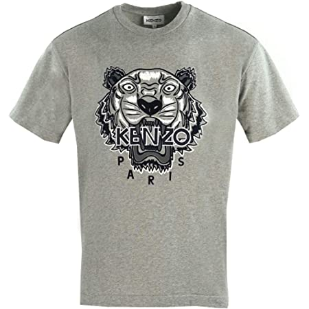 Kenzo Icons Tiger T-Shirt (Colour : Grey - Size : Extra Large)