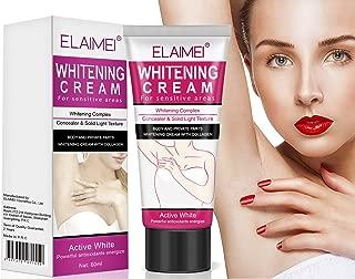 Whitening Cream,Underarm Lightening & Brightening Deodorant Cream Armpit Whitening Body Creams Underarm Repair Between Legs Knees and Sensitive Areas Skin Care 60ml