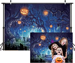 CYLYH 7x5ft Halloween Vinyl Photography Backdrop Customized Photo Background Studio Prop D187
