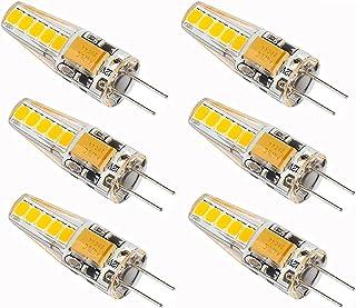 Ecoflare Bombilla G4 de 1,8 W, CA/CC, certificado CE, antiparpadeo y cero interferencias con Dab y WiFi (blanco cálido) [C...