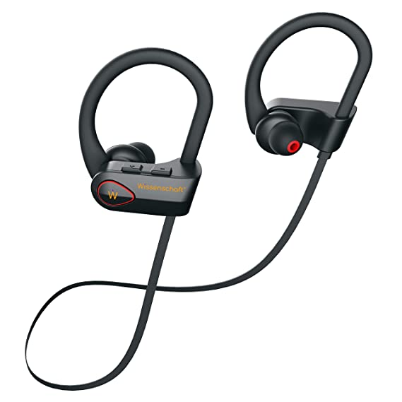 Wissenschaft AI-NC.Sport.5 ANC Bluetooth 5.0 True Wireless Sports Headphones with Mic Qualcomm CVC 8.0 Active Noise Cancellation, IPX7 Waterproof, Siri Google Voice Commands (with Carry case)