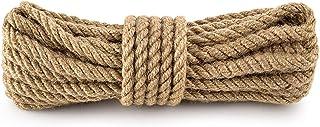 Amazinggirl Garten Kordel Natur Juteschnur Seil 10 mm - Juteseil Tau Schnur Bastelschnur für Haushalt Handwerk DIY Dekoration Jutegarn 10 m