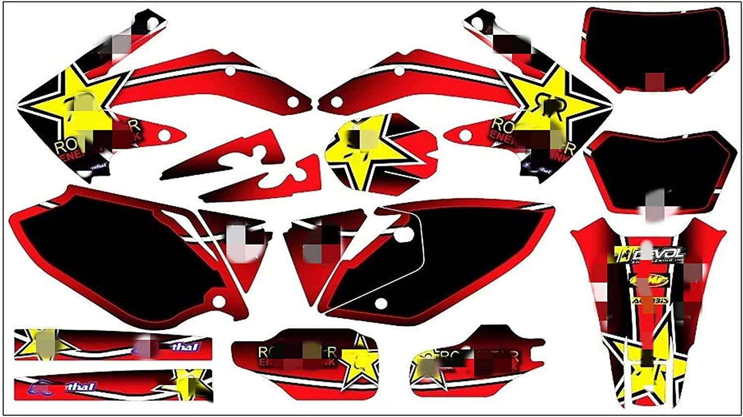 bazutiwns MDJC2005 Customized 3M Super beauty product restock quality top! Grap Motorcycle Stickers Decals Latest item