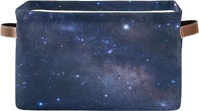 ALALAL Organisateur de Rangement rectangulaire Belle poubelles de Ciel étoilé de Nuit pour l'organisation avec poignée en ...