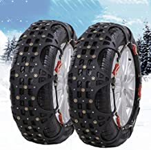 Car Snow Chain car SUV Snow Emergency tire Snow Chains Easy to Install (Size : 23565R17)