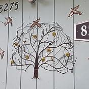 Amazon Com Gardman 8425 Windswept Tree Wall Art 29 5 Long X 24 5 Wide Wall Sculptures Garden Outdoor