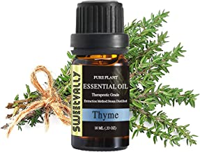 Thyme Essential Oil, Therapeutic Grade Pure Plant Aroma Oil - Topically Applied in Diffuser, Humidifier, Skin Care, Cleaning (10ml)