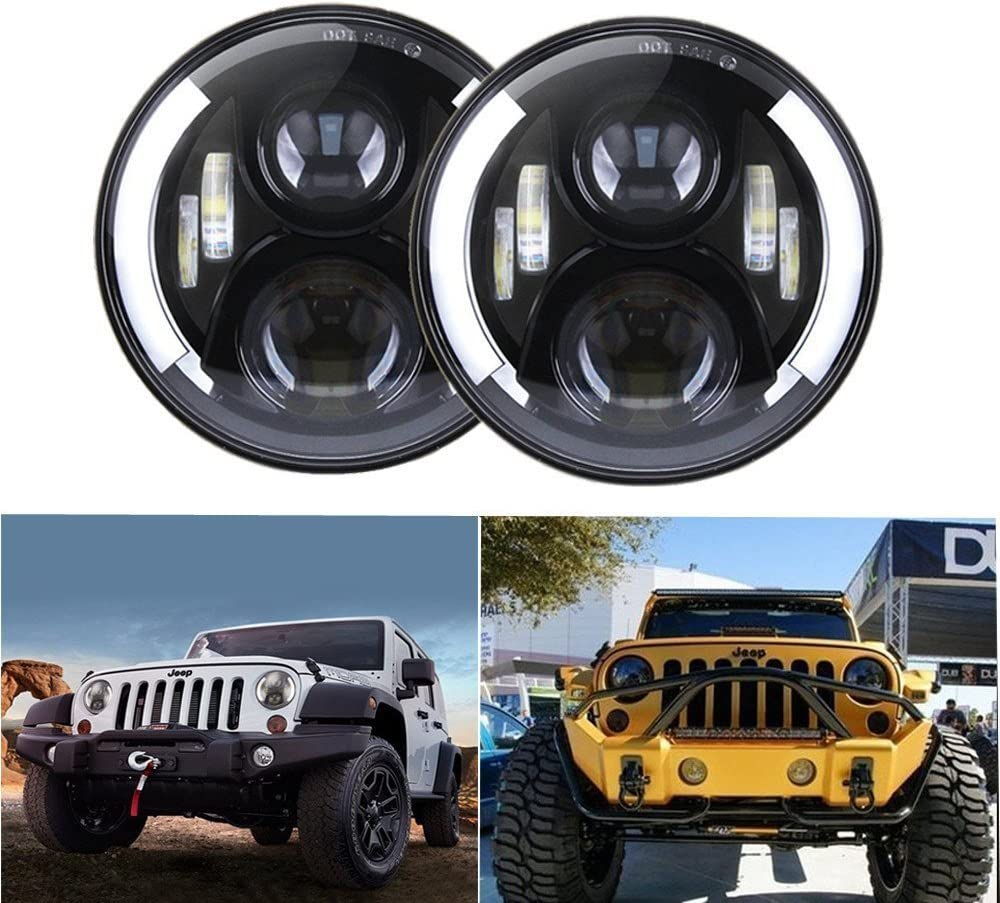 7 Inch 50W All items in the store Round CREE LED White Raleigh Mall Headlights Driving With Lights D