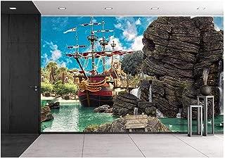 pirate wall mural