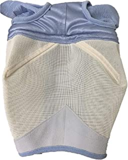 Shires Fine Mesh Horse Equine Fly Mask with Ears Light Blue 60% UV Protection
