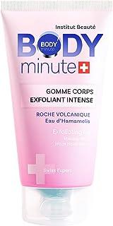 BODY'minute SUISSE - GOMME INTENSE CORPS - Exfolie et élimine les impuretés de votre peau - Eau d'hamamelis, Roche volcani...