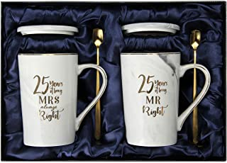 25th Wedding, 25th for Couple, Gifts for Husband, Wife and Happy Couples for Men and Women - 25 Year Parents