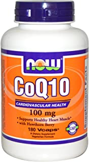 Now Food CoQ10, 100mg, 180 Vegetable Capsules