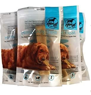 1 lb All Natural Large Himal Dog Treat Yak Chews (5 Piece of 3.5 oz Each Chews)