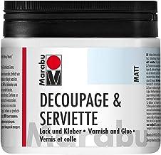 Marabu Kreativ Farbe - Barniz y Pegamento de decoupage con Papel de Cocina, 500 ml, Mate, Transparente