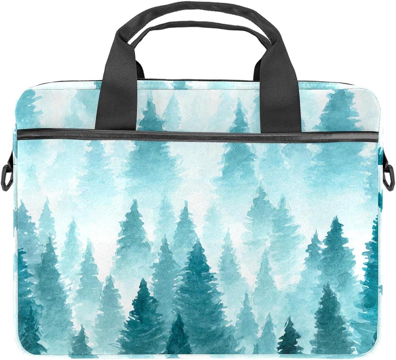 Winter Industry No. 1 Forest Landscape Laptop Shoulder Max 63% OFF Messenger Case Bag Sleev