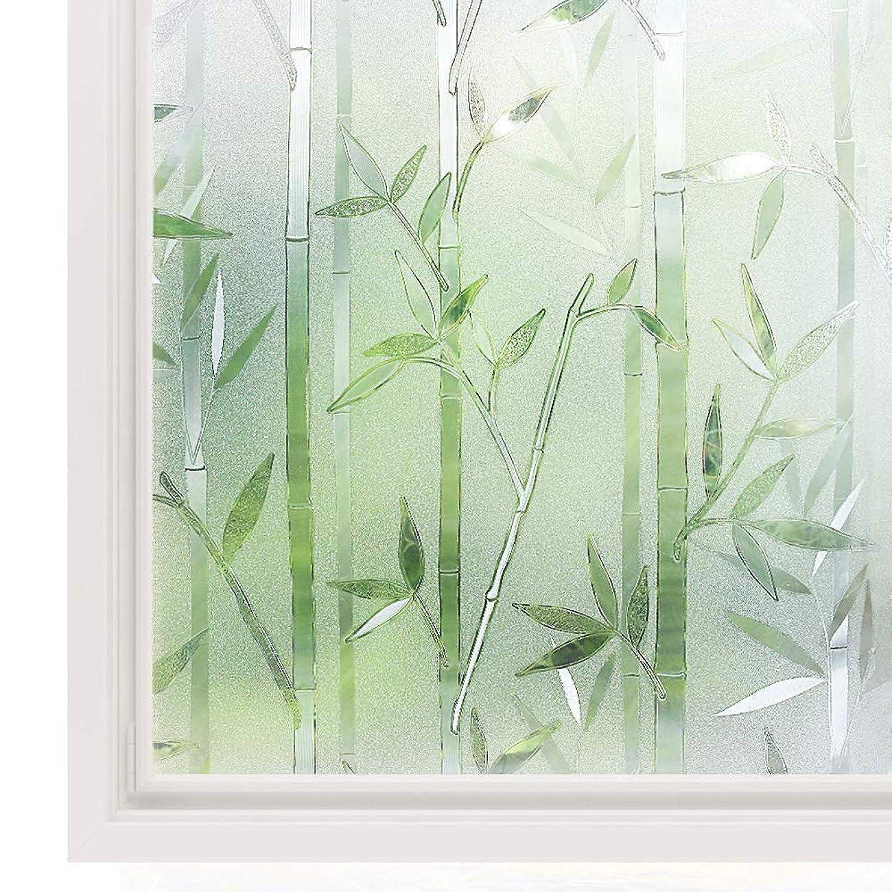 銛あいまい均等に複数のサイズが利用可能3Dプライバシーウィンドウフィルム接着剤なし静的粘着ガラスフィルムつや消し装飾ガラスステッカー