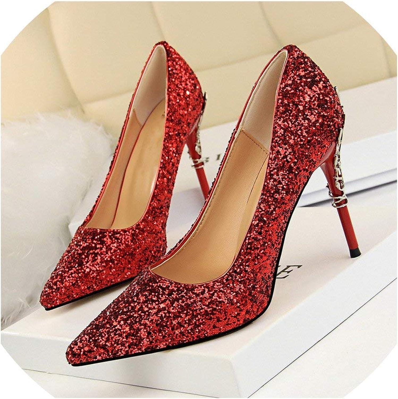 High Heels Women Pumps Bling High Heels Glitter High Heel shoes Woman Wedding shoes