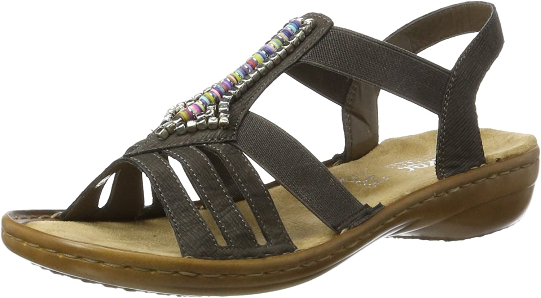 Rieker Women's 608S1 Sandal Grey