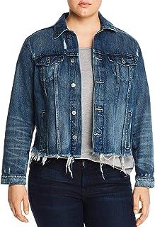 Lucky Brand womens PLUS SIZE DENIM TOMBOY TRUCKER JACKET Jacket