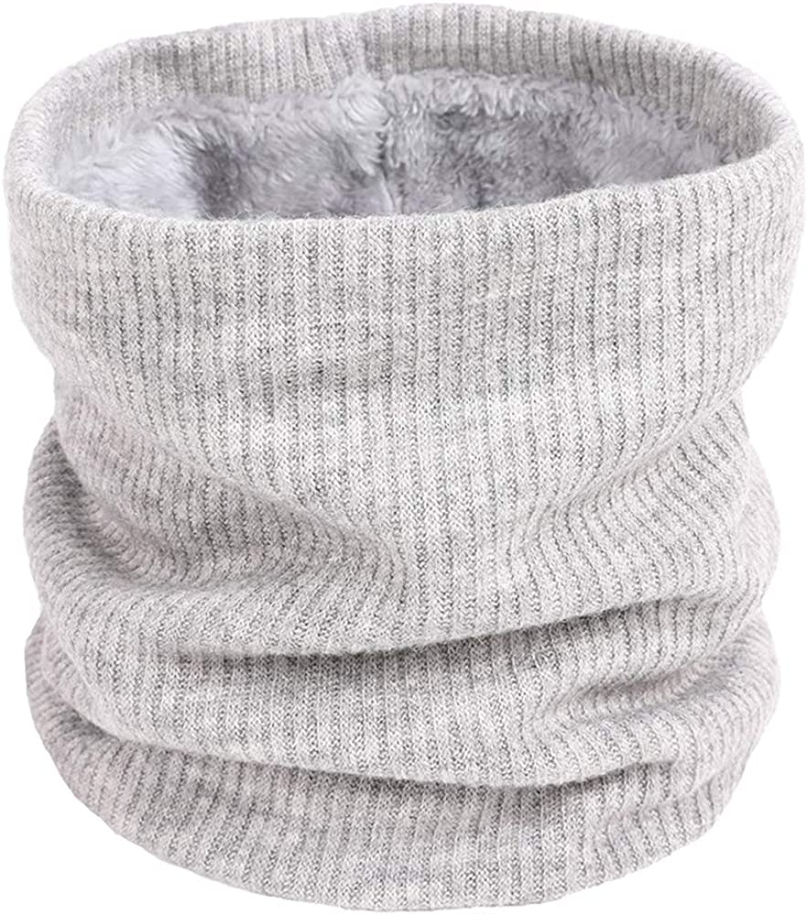 Women's Men Thick Winter Knitted Warm Circle Loop Infinity Scarf