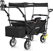 Hoberg Opvouwbare premium bolderkar incl. dak (LSF30) | drankhouder, koeltas, remmen, handwagen, transportwagen [80 kg dra...