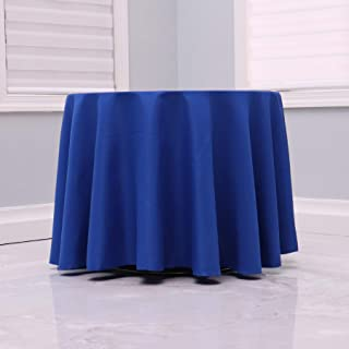 """Kadut Royal Blue Tablecloth - 108"""" Inch Round Tablecloths for Circular Table Cover in Royal Blue Washable Polyester - Grea..."""